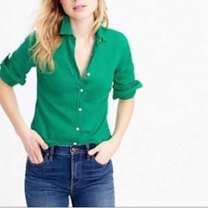 J. Crew Perfect linen shirt